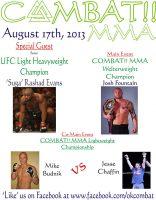 Combat MMA Poster 8-17