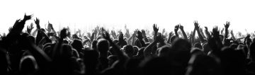Shot of a live crowd at a concert