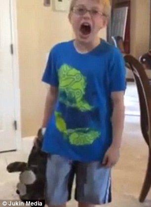 Boy screams